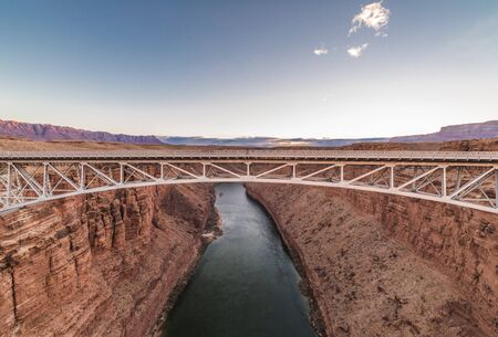 Navajo Bridge spanning the Colorado River in Arizona, USA.