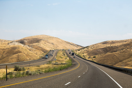Highway 84 in eastern Oregon (near Idaho). Summer day setting.