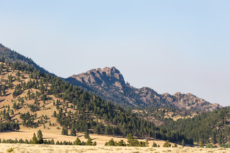 Rocky mountain peaks near Helena, Montana, USA. Stock Photo
