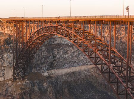 Perrine Bridge near Twin Falls and Jerome, Idaho, over the Snake River in southern Idaho, USA.