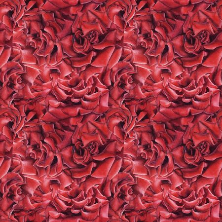 Hand drawn  seamless pattern with red roses. Element for design greeting card, St. Valentine day, wedding invitation, wrapping paper, cloth.