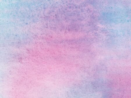 Pink and turquoise watercolor texture background with wet brush stains, strokes. Watercolor wash. Abstract artistic frame, empty space for text. Acrylic hand painted gradient backdrop.