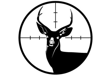 鹿の狩猟黒と白