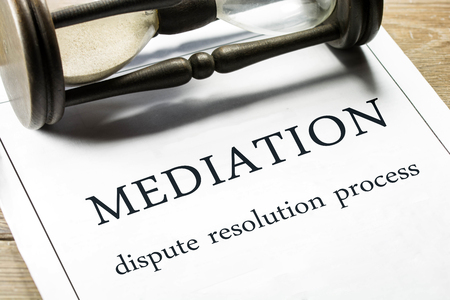 Mediation - dispute resolution process wording. 스톡 콘텐츠 - 114746387