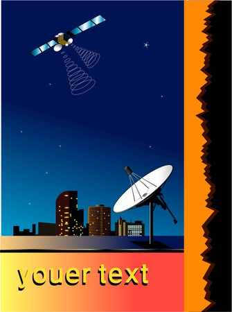poster of communications,dish ,Satellite Stock Vector - 17933403