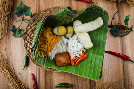Liwet Rice Nasi Liwet Keprabon Foto de archivo