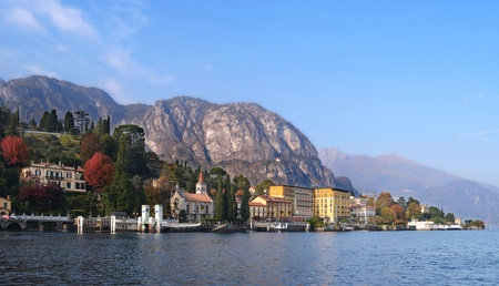 View of Lake Como (northern Italy) in a sunny day photo