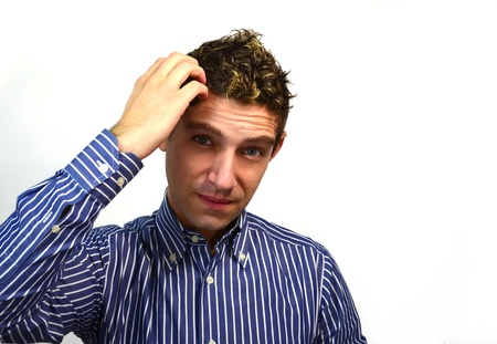 Good looking young man thinking Stock Photo - 11424678