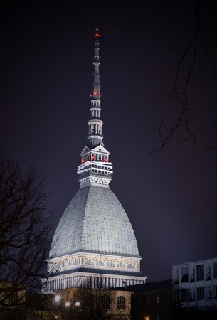 Mole Antonelliana in Torino, Italy, at night photo