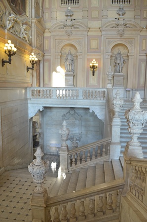 Turin, Italy  Staircase of Savoy Royal Palace