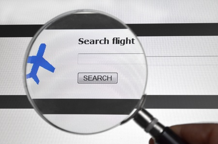 Search flight, airling search service on the web photo