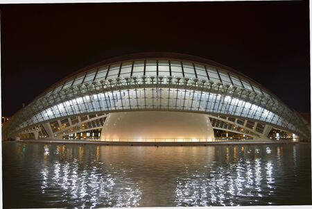 Valencia, Spain. City of Arts and Science, the Hemisphere