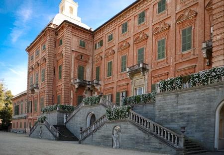 near side: North side of Racconigi palace near Turin, Italy