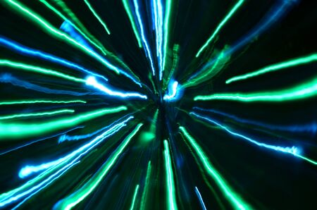 ray of light: Multi-colored explosion of lights. Tunnel effect wallpaper