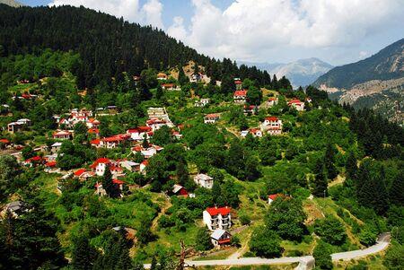 Katafyto village near Aspropotamos river. Trikala Prefecture, Thessaly region, central Greece.