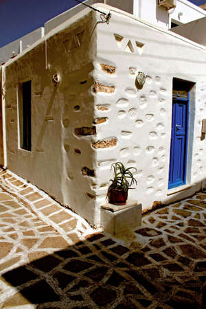 Greece, Antiparos island, typical architecture in the main town.