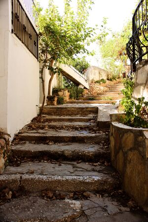 Old Stone Stairs Kalkan Town in Antalya photo
