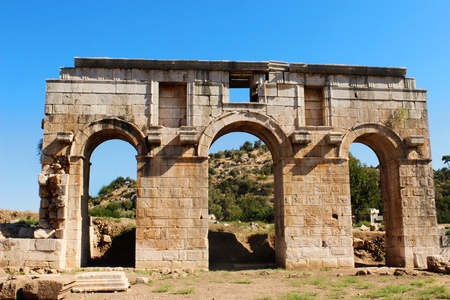ancient relics: Ancient City Gate in Patara  September 2012