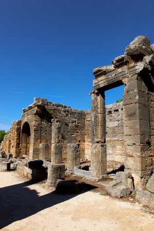 building feature: Seleukeia historic town at Anatolia Side, Turkey  Stock Photo