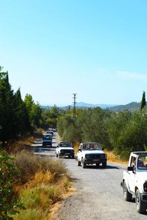 Vehicles on safari in Alanya, Antalya, Turkey