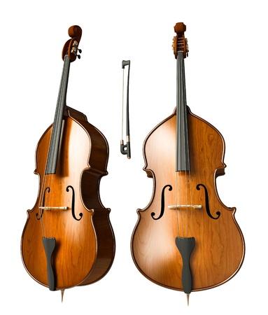 orquesta clasica: Contrabajo Foto de archivo