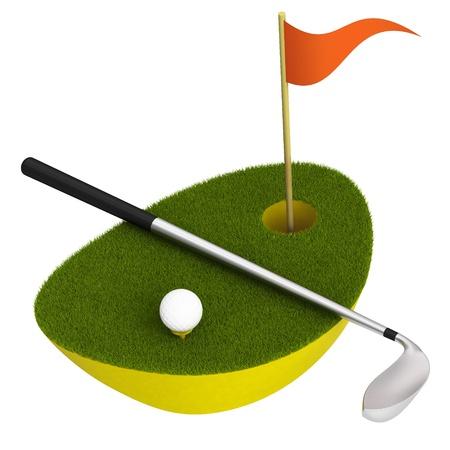 golf scene icon photo