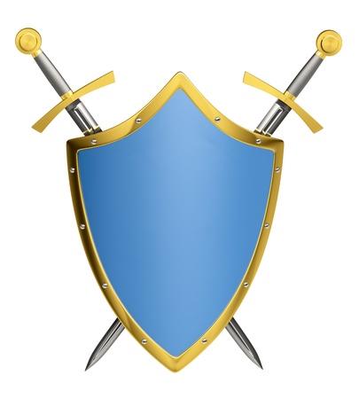 Escudo & de espadas Foto de archivo - 9708142