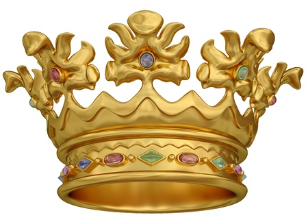 Gold crown isolated on white Фото со стока - 9708127