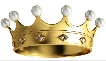 gold crown: Gold crown isolated on white