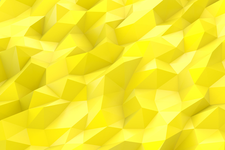 Abstract low poly 3d yellow color background