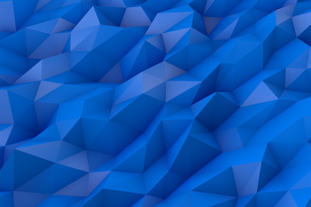 Abstract low poly 3d blue color background