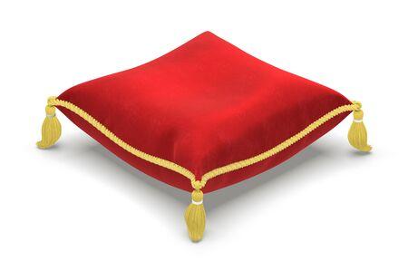 Das königliche Kissen isoliert auf weißem Hintergrund