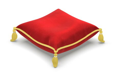 royal background: The royal pillow isolated on white background