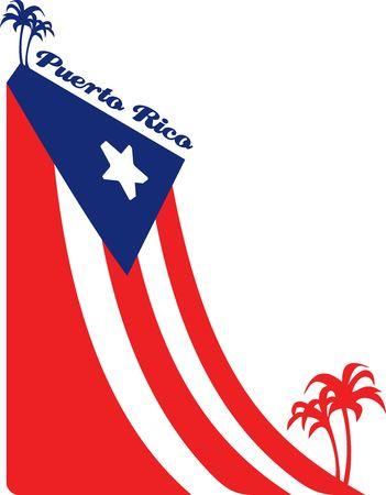 bandera de puerto rico: La bandera de Puerto Rico y las palmas