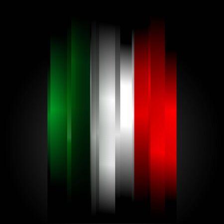 flaga włoch: Futuristic abstrakcyjna w kolory banderÄ… WÅ'och
