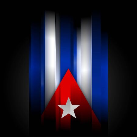 The abstract Cuban flag on black background photo