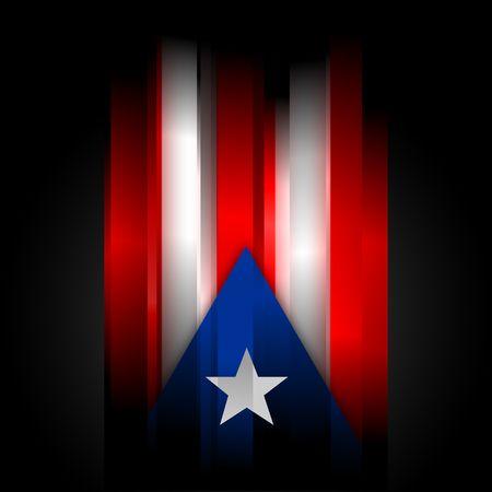 bandera de puerto rico: La bandera de Puerto Rico Resumen sobre fondo negro