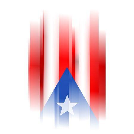 bandera de puerto rico: La bandera de Puerto Rico Resumen sobre fondo blanco