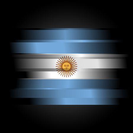 flag of argentina: Bandera abstracta de la Argentina sobre fondo negro