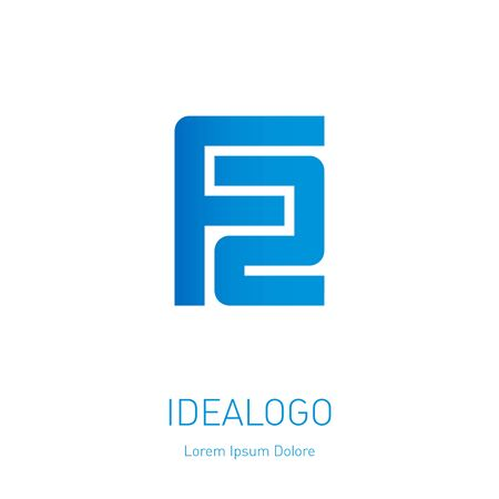 F and 2 initial logo. F2 - Vector design element or icon. Initial monogram logotype.