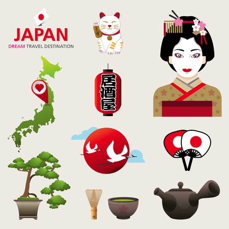 A vector illustration of Infographic elements for traveling to Japan, concept Travel to Japan  Infographic Element  icon  Symbol , Vector Design