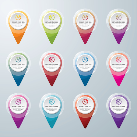 Check in location icon. Location concept design. icon vector. Colorful check in location vector.  イラスト・ベクター素材