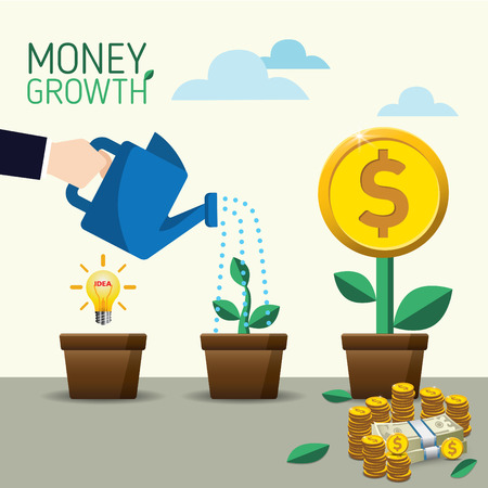 Vector crowdfunding concept in flat style - new business model, start up, vector illustration.