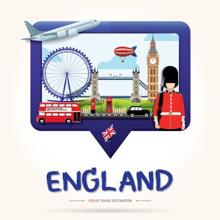 Travel and Tourism Check in icon concept. London, England Vector travel destinations icon set, Info graphic elements for traveling to England. Travel vector.
