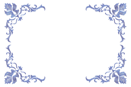 3D Rendering, Broken violet floral flower crystal Ice Wall with Hole and Place For Your Text isolated on white background.