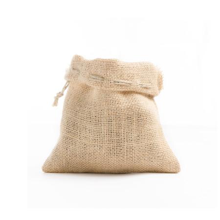 gunny bag: Gunny bag brown teapot On a white background taken in the studio.