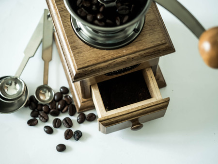 Coffee beans ready with diff coffee grinder