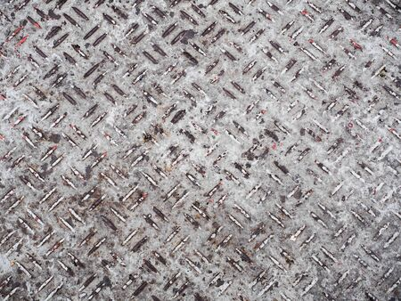 heavy industry: heavy duty rusty metal background with non slip repetitive patten.