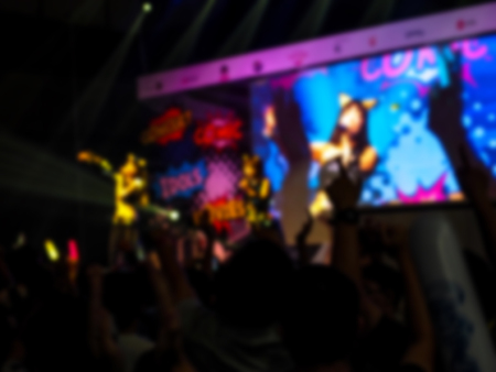 Blurry image in concert. Stock Photo