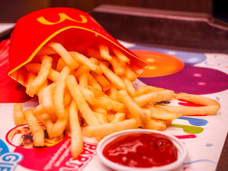 BANGKOK, THAILAND, APRIL 24, 2017: McDonald's French Fries